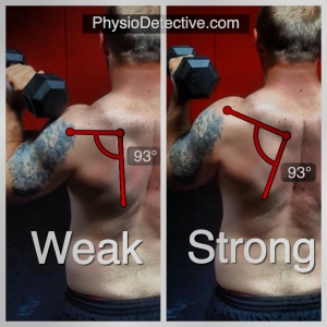 "Keep that shoulder socket pointing up and ""strong""!"