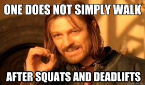 no walking after squats
