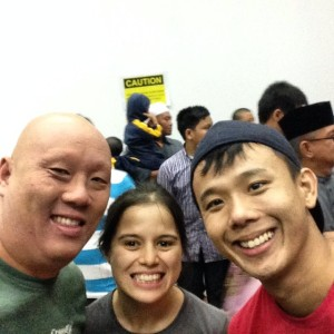 Antony and Kirksman with Shy Nokman, the owner of Kai Hasu Movement Institute in Brunei